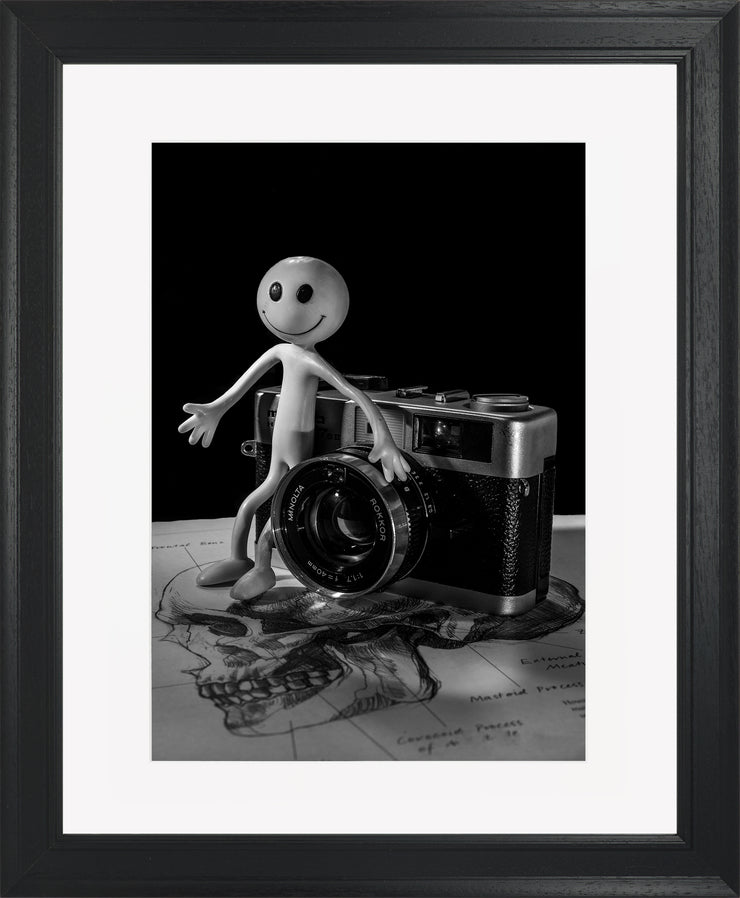 Smile Limited Edition Print by Neil Murray Black Frame