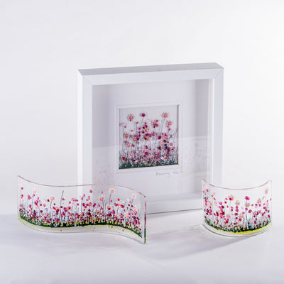 Blooming fused glass art by Pam Peters