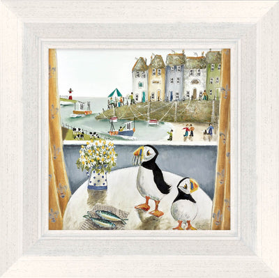 Breakfast Table limited edition framed print by Rebecca Lardner