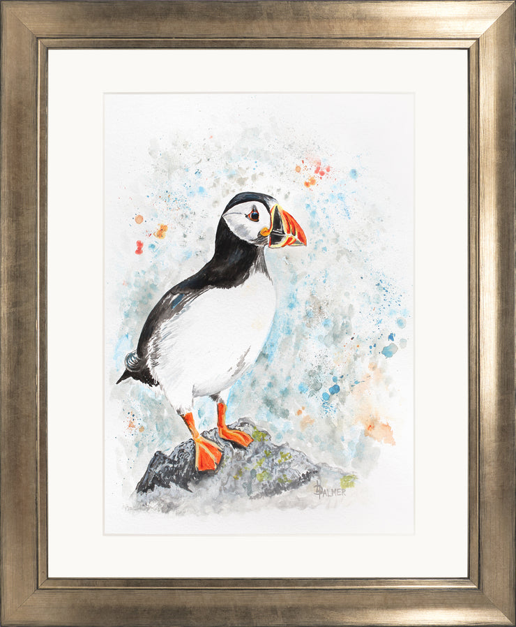 Perching Peter limited edition print by Lesley Palmer Framed Bronze