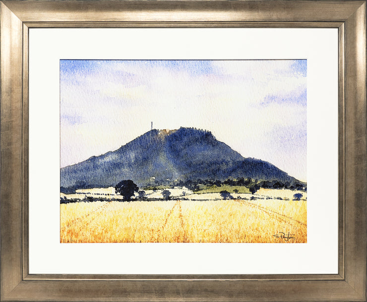 The Wrekin Shropshire Print by Sue Payton Bronze Frame
