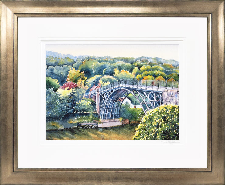 Ironbridge Shropshire Limited Edition Print by Sue Payton Bronze Frame