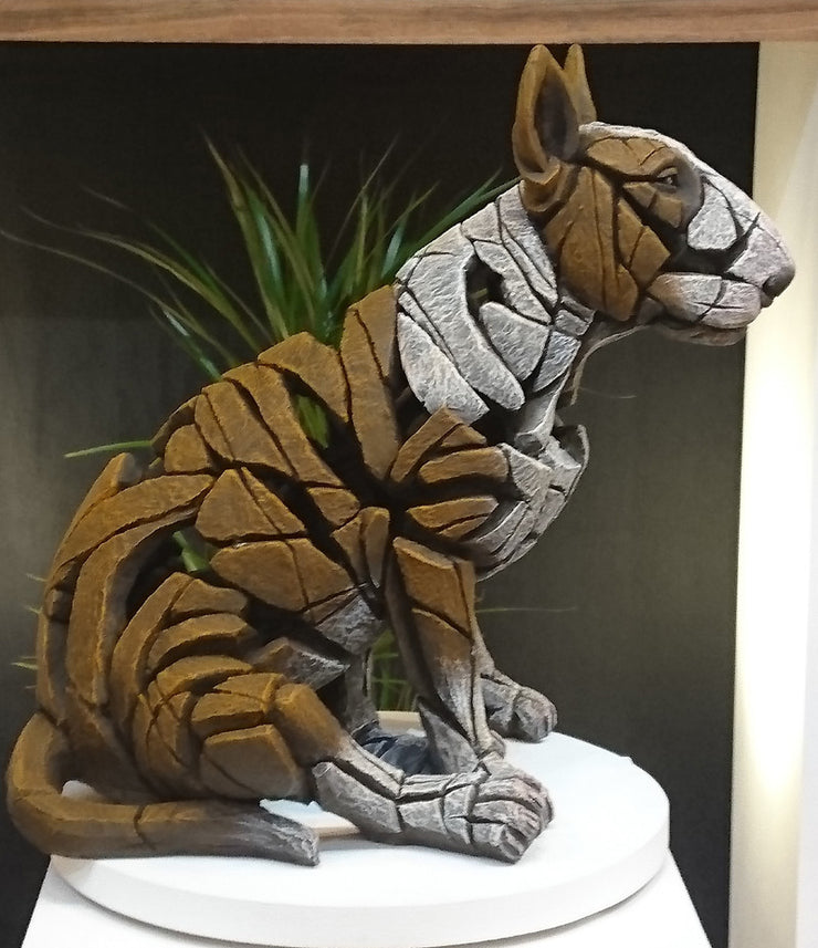 Bull Terrier - Red by Edge Sculpture