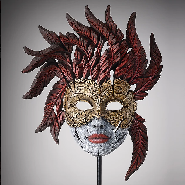 Venetian Carnival Mask - Masquerade by Edge Sculpture