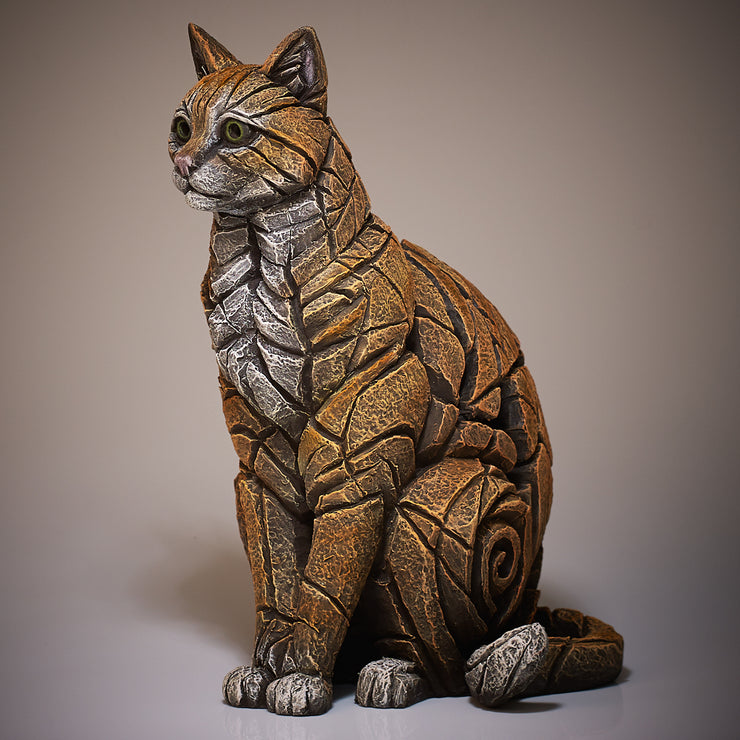 Cat Sitting Ginger by Edge Sculpture