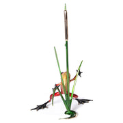 Cattail Bronze Sculpture by Tim Cotterill Frogman