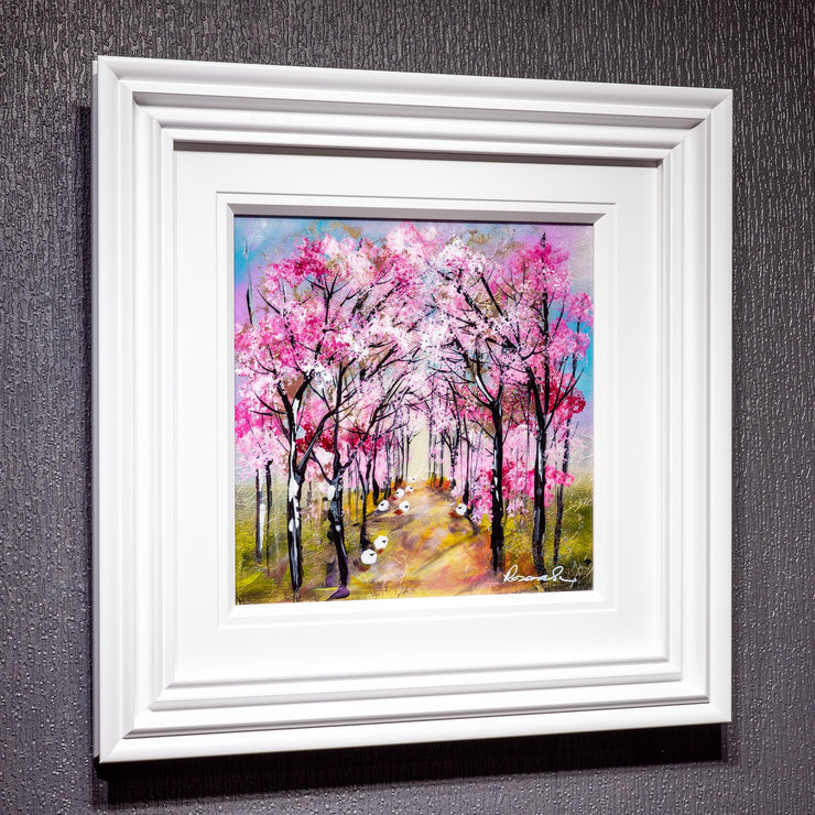 Cherry Path Original Painting by Rozanne Bell