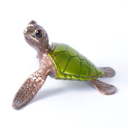 Speedy Green Bronze Sea Turtle Sculpture by Chris Barela