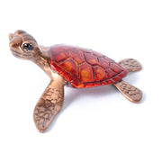 Slow Poke Crimson Red Bronze Sea Turtle Sculpture by Chris Barela