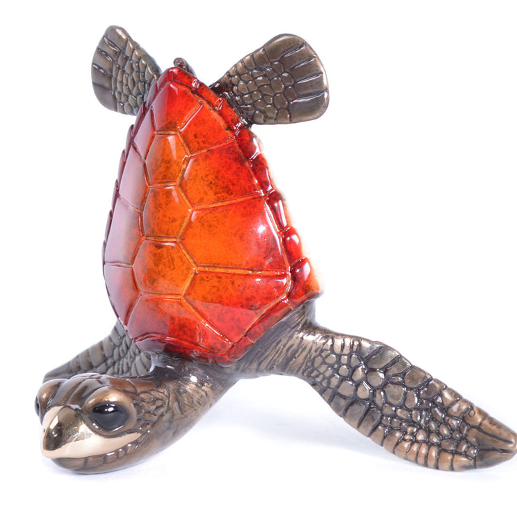 Sassy Bronze Sea Turtle Sculptures by Chris Barela