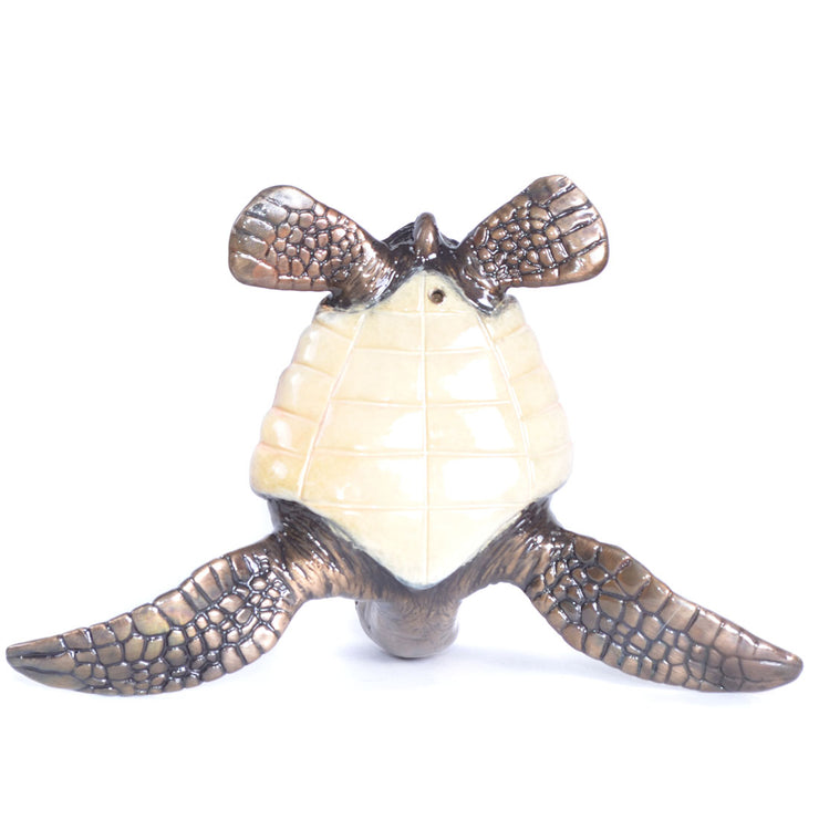 Sassy / Showy / Splashy Bronze Sea Turtle Sculptures by Chris Barela