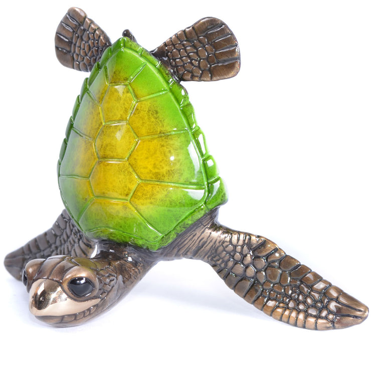 Splashy Bronze Sea Turtle Sculptures by Chris Barela