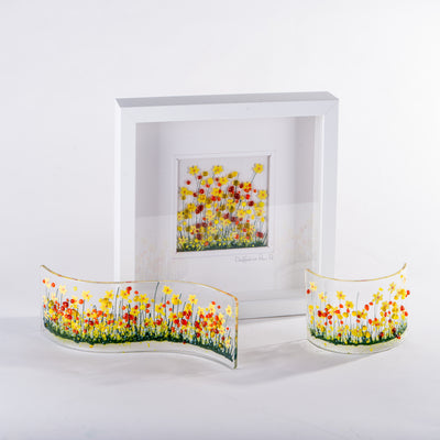 Daffodil fused glass art by Pam Peters