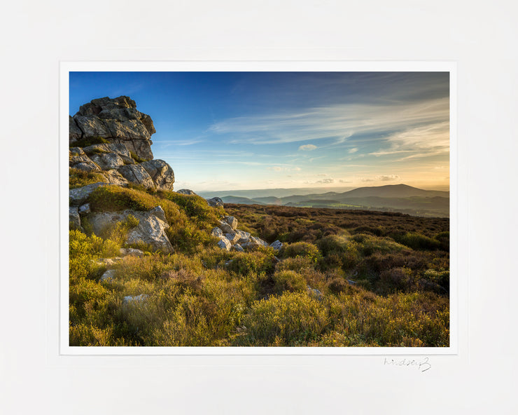 Devil's Chair Stiperstones Print by Lindsey Bucknor Mounted
