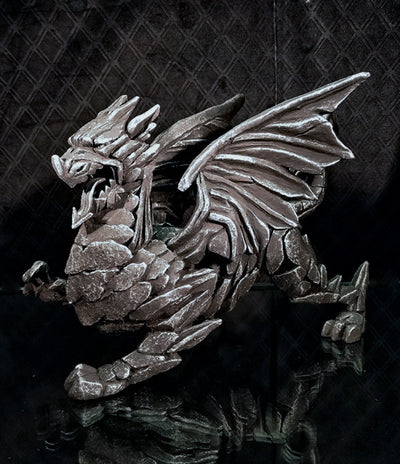 Dragon Silver Limited Edition by Edge Sculpture