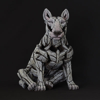 Bull Terrier White sculpture from Edge Sculpture