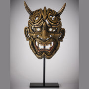 Japanese Hannya Mask Netsuke Gold from Edge Sculpture by Matt Buckley