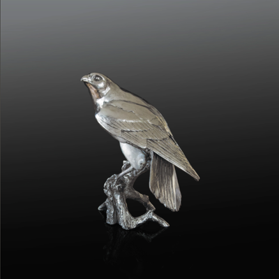 Falcon nickel resin sculpture from Richard Cooper Studio