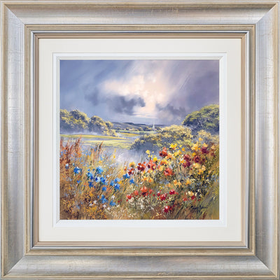 Flower Valley Original Painting by Allan Morgan