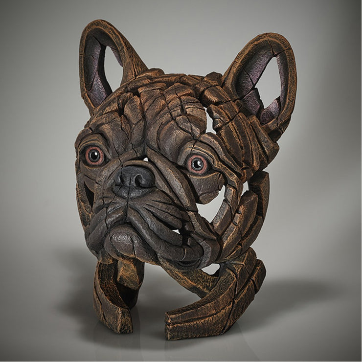 French Bulldog Bust - Brindle from Edge Sculpture by Matt Buckley