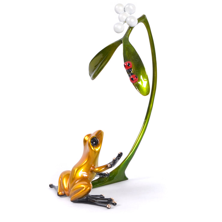 Mistletoe Bronze Sculpture by Tim Cotterill Frogman