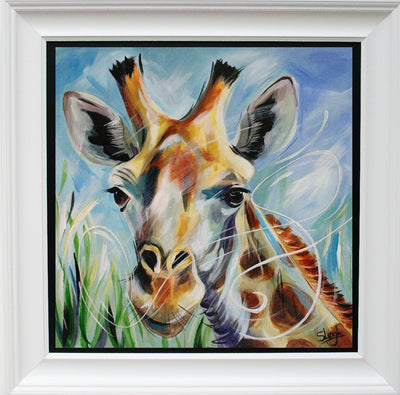 Giraffe limited edition print by Susan B Leigh