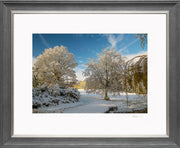 A Wintry Attingham Limited Edition Print by Rob Hall Grey and Silver Frame