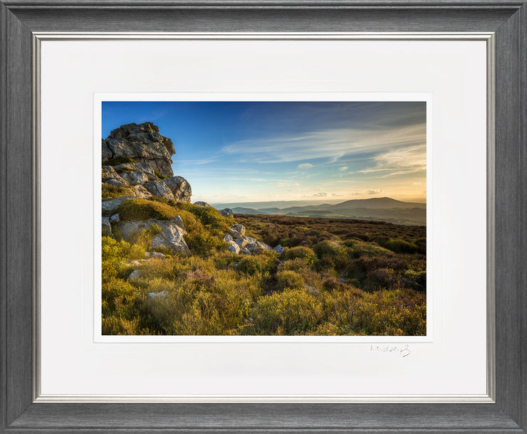 Devil's Chair Stiperstones Print by Lindsey Bucknor Grey Silver Frame