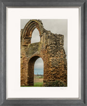 Lilleshall Abbey & Monument Limited Edition Print by Rob Hall Grey and Silver Frame