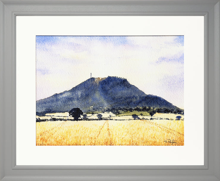 The Wrekin Shropshire Print by Sue Payton Grey Frame