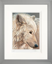 Spirit of the North Limited Edition Print by Sue Payton Framed Grey