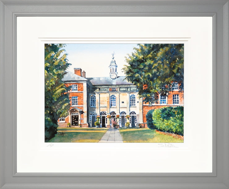 Adams Limited Edition Print by Sue Payton Framed Grey