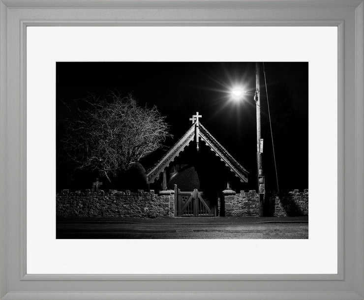 The Gate Limited Edition Print by Neil Murray Grey Frame
