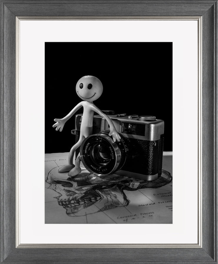 Smile Limited Edition Print by Neil Murray Grey Silver Frame