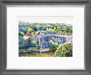 Ironbridge Shropshire Limited Edition Print by Sue Payton Grey Silver Frame