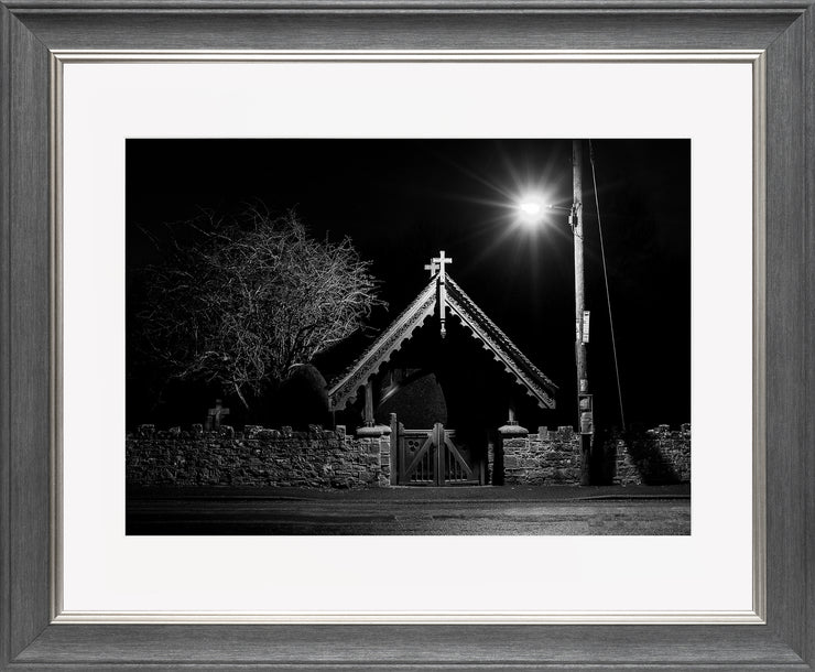 The Gate Limited Edition Print by Neil Murray Grey Silver Frame