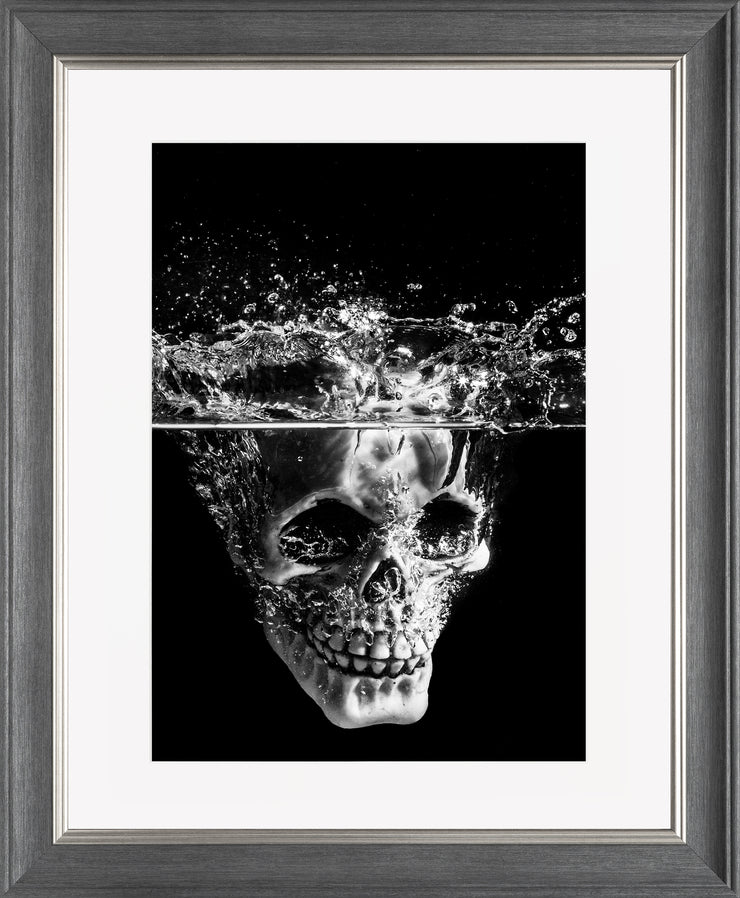 Splash Limited Edition Print by Neil Murray Grey Silver Frame
