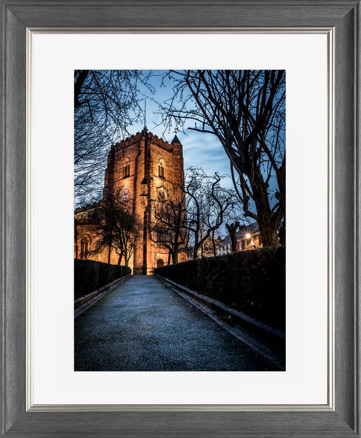 St Nicholas limited edition print by Neil Murray Grey Silver Frame
