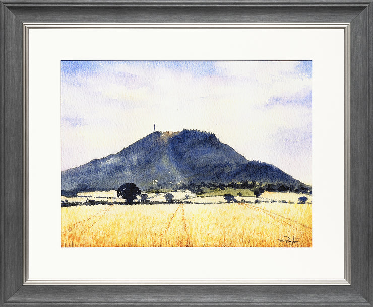The Wrekin Shropshire Print by Sue Payton Grey Silver Frame