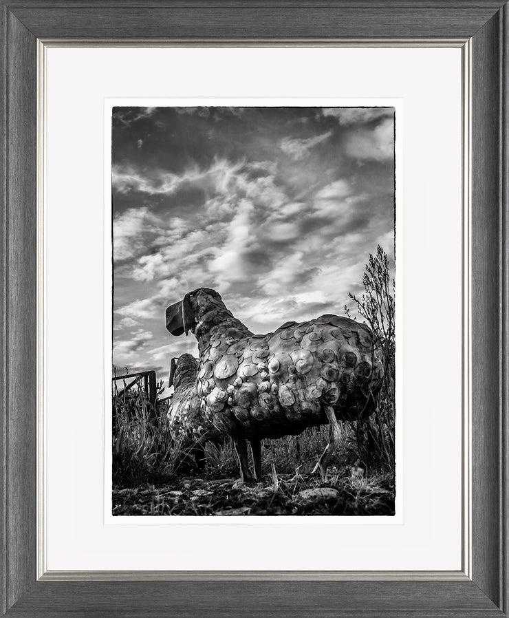 Follow Me Limited Edition Print by Neil Murray Grey Silver Frame