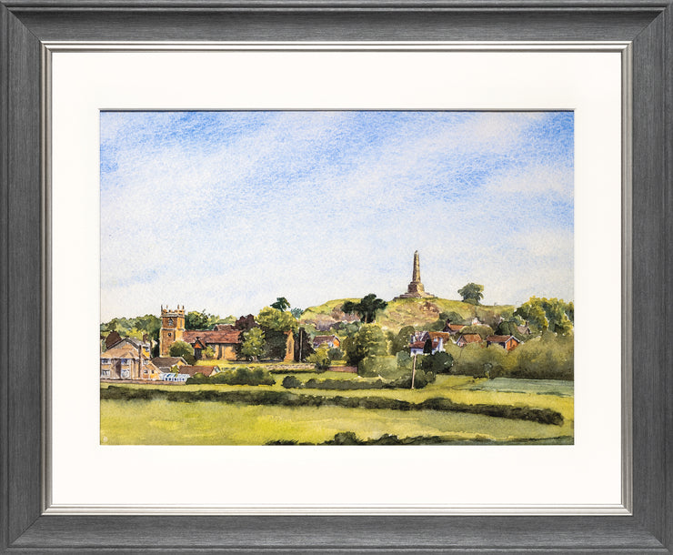 Lilleshall Hill and Church print by Sue Payton