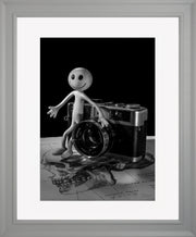 Smile Limited Edition Print by Neil Murray Grey Frame