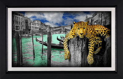 Hanging in Venice limited edition framed print by Lars Tunebo