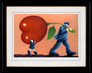 Helping Dad limited edition framed print by Mackenzie Thorpe