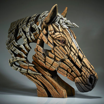 Horse Bust - Palomino from Edge Sculpture by Matt Buckley
