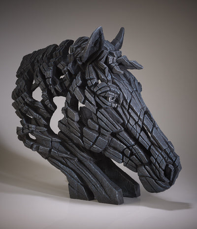 Horse Bust - Black by Edge Sculpture