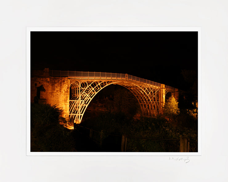 Ironbridge at Night Print by Lindsey Bucknor Mounted