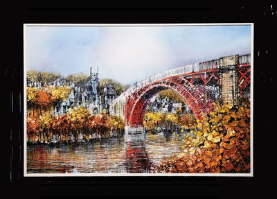 Ironbridge original painting by Nigel Cooke