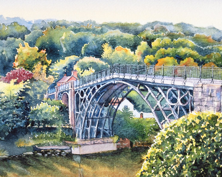 Ironbridge Shropshire Limited Edition Print by Sue Payton