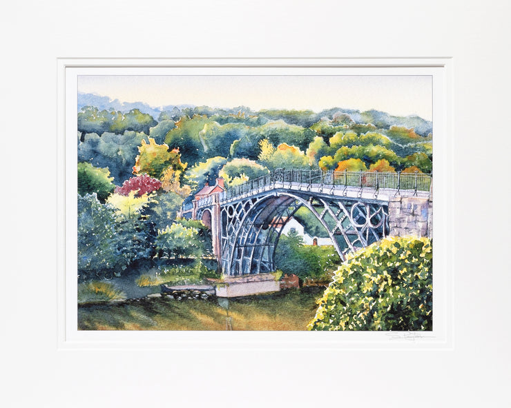 Ironbridge Shropshire Limited Edition Print by Sue Payton Mounted